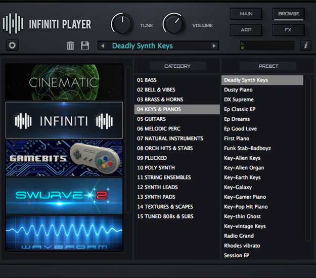infinitiplayer - Software for music producers and beatmakers